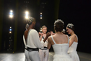 MANHATTAN, NEW YORK, OCTOBER 19, 2016 Alban Lendorf, the newest male principal at ABT, is seen onstage just before his debut performance with the company, performing two ballets, Symphonic Variations and The Brahms Haydn Variations, at the Koch Theater in Lincoln Center in Manhattan, NY.  At right is Christine Shevchenko. 10/19/2016 Photo by ©Jennifer S. Altman/For The New York Times