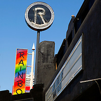 USA, California, Los Angeles. The Roxy Theatre concert venue on Sunset Strip in West Hollywood.