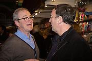 HARRY ENFIELD; ANGUS DEAYTON;  , Allie Esiri's The Love Book launch party , Daunt Books <br /> 83 Marylebone High Street, London. 5 February 2014