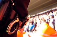 Photo: Alan Crowhurst.<br />Southampton v Cardiff City. Coca Cola Championship. 01/04/2006. Handcuffs at the ready.