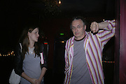 Angela Davies and Big George, Book launch for Julian Clary's ' Murder Most Fab ',Simon Drake's House of Magic 9 Chapter Road, Kennington SE17. 14 August 2007.  -DO NOT ARCHIVE-© Copyright Photograph by Dafydd Jones. 248 Clapham Rd. London SW9 0PZ. Tel 0207 820 0771. www.dafjones.com.