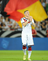 Fotball<br /> Tyskland v Armenia<br /> 06.06.2014<br /> Foto: Witters/Digitalsport<br /> NORWAY ONLY<br /> <br /> Schlussjubel Bastian Schweinsteiger (Deutschland)<br /> Fussball, Testspiel, Deutschland - Armenien 6:1