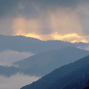 Clearing storm over the Onacaluftee Valley in Great Smoky Mountains National Park, TN/NC.