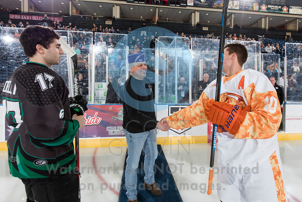 The Youngstown Phantoms defeat the Cedar Rapids RoughRiders 3-1 at the Covelli Centre on March 7, 2020.<br /> <br /> Jacob Felker, forward, 10