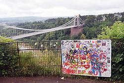 Clifton Suspension Bridge over River Avon, Bristol, UK 2021
