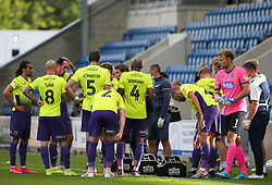 Exeter City manager Matt Taylor gives some instructions during a water break - Mandatory by-line: Arron Gent/JMP - 18/06/2020 - FOOTBALL - JobServe Community Stadium - Colchester, England - Colchester United v Exeter City - Sky Bet League Two Play-off 1st Leg