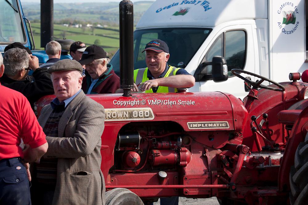 Taith Tractor Run, David Brown WN880, Llanllwni, Wales, 25 April 2011