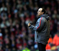Photo: Jed Wee.<br />Liverpool v Charlton Athletic. The Barclays Premiership. 04/03/2006.<br />Liverpool manager Rafael Benitez.