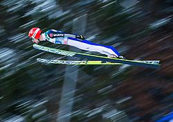 06.01.2015, Paul Ausserleitner Schanze, Bischofshofen, AUT, FIS Ski Sprung Weltcup, 63. Vierschanzentournee, Probedurchgang, im Bild Markus Eisenbichler (GER) // Markus Eisenbichler of Germany soars trought the air during his Trial Jump for the 63rd Four Hills Tournament of FIS Ski Jumping World Cup at the Paul Ausserleitner Schanze, Bischofshofen, Austria on 2015/01/06. EXPA Pictures © 2015, PhotoCredit: EXPA/ Johann Groder