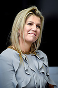 Koningin Maxima tijdens de presentatie van het Jaarbericht Staat van het MKB 2018 van het Nederlands Comite voor Ondernemerschap aan staatssecretaris Mona Keijzer van Economische Zaken en Klimaat. <br /> <br /> Queen Maxima during the presentation of the Annual Report State of the SME 2018 of the Netherlands Committee for Entrepreneurship to State Secretary Mona Keijzer of Economic Affairs and Climate.<br /> <br /> Op de foto / On the photo:  Koningin Maxima / Queen Maxima