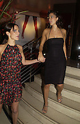 Sophie Anderton and  Princess Tamara Czartorski Borbon, Party following the charity premiere ( in aid of the Elton John Aids foundation) of Kinky Boots. titanic  Bar. London.  4 October 2005. . ONE TIME USE ONLY - DO NOT ARCHIVE © Copyright Photograph by Dafydd Jones 66 Stockwell Park Rd. London SW9 0DA Tel 020 7733 0108 www.dafjones.com