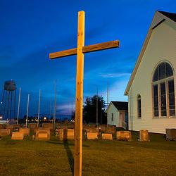 August 4, 2017 - Tangier Island, VA - PThe graveyard near the Swain Memorial United Methodist Church on Tangier Island.<br /> <br /> Photo by Susana Raab/Institute