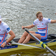 British rowers Helen Glover and Heather Stanning<br /> <br /> Crews racing the World Championships on The Bosbaan, Amsterdam, The Netherlands, 29/30/31 August 2014  Copyright photo © Steve McArthur / @rowingcelebration www.rowingcelebration.com