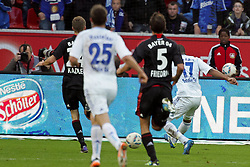 23.10.2011,  BayArena, Leverkusen, GER, 1.FBL, Bayer 04 Leverkusen vs Schalke 04, im Bild.Jefferson Farfan (Schalke #17) zieht ab zum 0:1..// during the 1.FBL, Bayer Leverkusen vs Schalke 04 on 2011/10/23, BayArena, Leverkusen, Germany. EXPA Pictures © 2011, PhotoCredit: EXPA/ nph/  Mueller       ****** out of GER / CRO  / BEL ******
