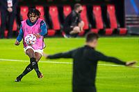 SEVILLE, SPAIN - OCTOBER 28: Jukles Kounde before the UEFA Champions League Group E stage match between FC Sevilla and Stade Rennais at Estadio Ramon Sanchez-Pizjuan on October 28, 2020 in Seville, Spain. (Photo by Juan Jose Ubeda/ MB Media).
