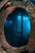 Atmospheric ccene from the Liberty wreck, Tulamben, Bali