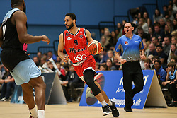 Chris Taylor of Bristol Flyers dribbles with the ball - Photo mandatory by-line: Arron Gent/JMP - 28/04/2019 - BASKETBALL - Surrey Sports Park - Guildford, England - Surrey Scorchers v Bristol Flyers - British Basketball League Championship
