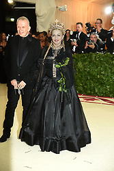 Madonna attends the Costume Institute Benefit at the Metropolitin Museum of Art at the opening of Heavenly Bodies: Fashion and the Catholic Imagination on May 7, 2018 in New York, New York, USA.