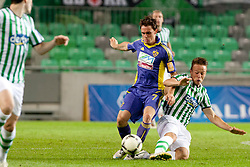 Ales Mejac #7 of Maribor during football match between NK Olimpija and NK Maribor in 5th Round of Prva liga NZS 2012/13, on August 11, 2012 in SRC Stozice, Slovenia. (Photo by Urban Urbanc / Sportida.com)