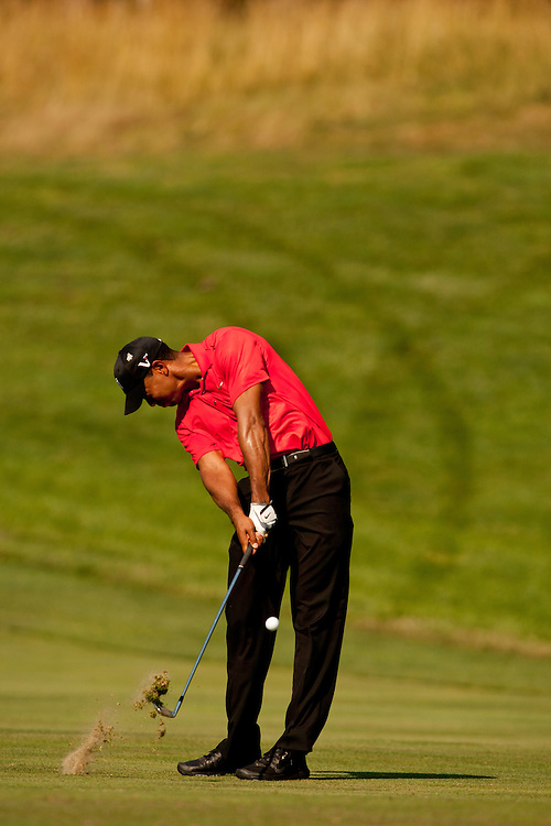 BETHESDA, MD - JULY 1: Tiger Woods during the final round of the 2012 AT&T National at Congressional Country Club in in Bethesda, Maryland on July 1, 2012. (Photograph ©2012 Darren Carroll) *** Local Caption *** Tiger Woods