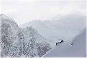 Will Hughes freeriding in Tignes, France. Shot for The Reason Magazine