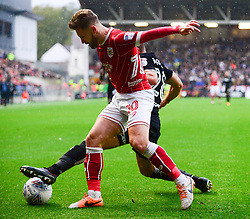 Matty Taylor of Bristol City challenges for the ball - Mandatory by-line: Dougie Allward/JMP - 21/10/2017 - FOOTBALL - Ashton Gate Stadium - Bristol, England - Bristol City v Leeds United - Sky Bet Championship