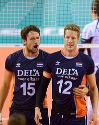 20150613 NED: World League Nederland - Finland, Almere<br /> Thomas Koelewijn #15, Kay van Dijk #12