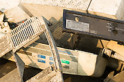 The plastic casing of a Telefunken VCR  lays among other trash near the Agbogboloshie market in Accra, Ghana on Thursday August 21, 2008.