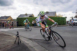 Jessica Allen speeds through Dottignies as the laps countdown. It's been a strong performance from the Australian development team - Grand Prix de Dottignies 2016. A 117km road race starting and finishing in Dottignies, Belgium on April 4th 2016.