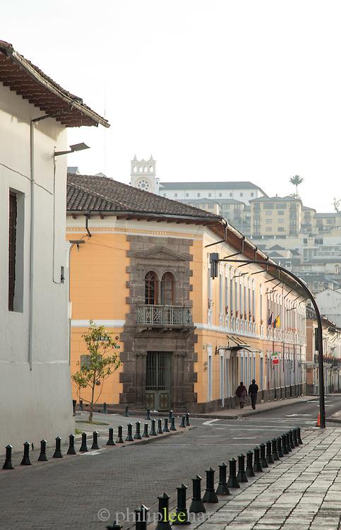 Garcia Moreno street, Quito, Ecuador, South America