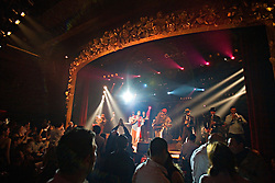 People are seen during show at the Music Hall, Beirut, Lebanon, March 19, 2006.