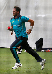 Australia's Chad Sayers during a nets session at the Adelaide Oval, Adelaide.
