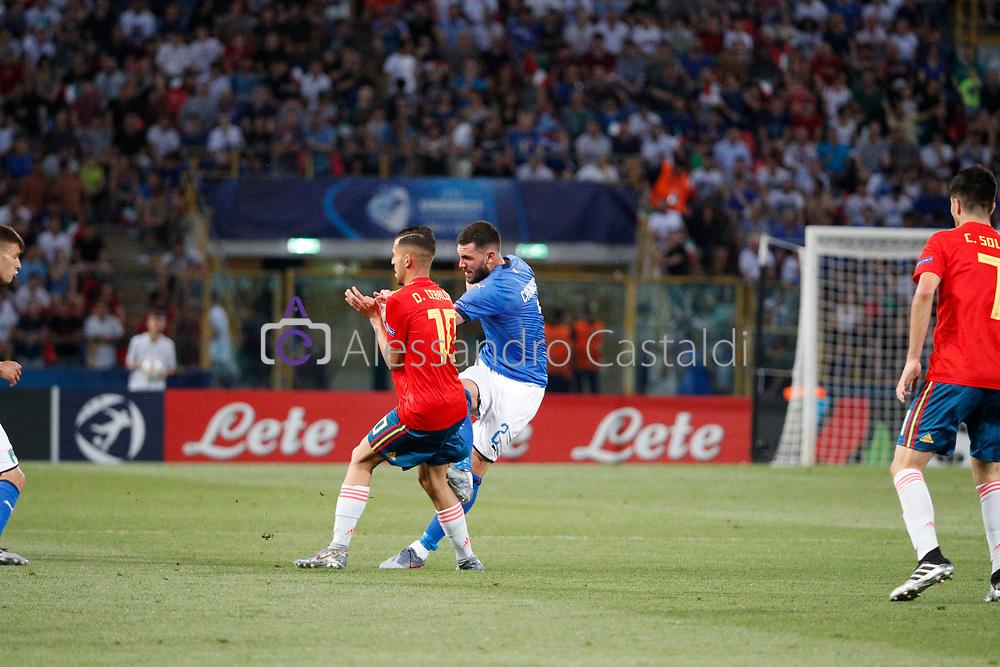 """Foto Alessandro Castaldi<br /> 16/06/2019 Bologna (Italia)<br /> Sport Italia - Spagna - UEFA Campionati Europei Under-21 20019 - Stadio """"Renato Dall'Ara""""<br /> Nella foto: <br /> <br /> Photo Alessandro Castaldi<br /> June 16, 2019 Bologna (Italy)<br /> Sport Soccer<br /> Italy vs Spain - UEFA European Under-21 Championship 2019 - """"Renato Dall'Ara"""""""" Stadium <br /> In the pic:"""