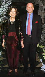 MR & MRS SIMON PARKER BOWLES, he is the brother of Andrew Parker Bowles, at a party in London on 9th December 1998.MMU 60