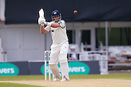 Yorkshire Batsman Joe Root hooks the ball during the Specsavers County Champ Div 1 match between Yorkshire County Cricket Club and Surrey County Cricket Club at Headingley Stadium, Headingley, United Kingdom on 10 May 2016. Photo by Simon Davies.
