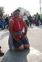"""Mexico, Federal District, Mexico City, December 11-12, 2011. In one of the largest pilgrimages in the world, millions of faithful come from all over Mexico to the Basilica of the Virgin of Guadalupe in celebration of the country's patron saint. For many, Guadalupe represents both the Christian Virgin Mary and the Aztec earth mother Tonantzin: to the """"peregrinos,"""" as they are known, Juan Diego's vision in 1531 of a young woman on a Tepeyac hill was the start of an enduring legend which inspires to this day. More at MexicoCulturalCalendar.com"""