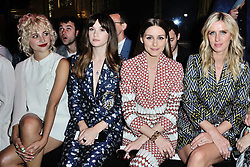 Pixie Lott, Sai Bennett, Olivia Palermo and Nicky Hilton Rothschild attending the Schiaparelli Haute Couture Paris Fashion Week Fall/Winter 2018/19 held at Opera Garnier in Paris, France on july 02, 2018. Photo by Aurore Marechal/ABACAPRESS.COM