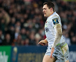 Saracens' Alex Goode<br /> <br /> Photographer Simon King/Replay Images<br /> <br /> European Rugby Champions Cup Round 5 - Ospreys v Saracens - Saturday 13th January 2018 - Liberty Stadium - Swansea<br /> <br /> World Copyright © Replay Images . All rights reserved. info@replayimages.co.uk - http://replayimages.co.uk