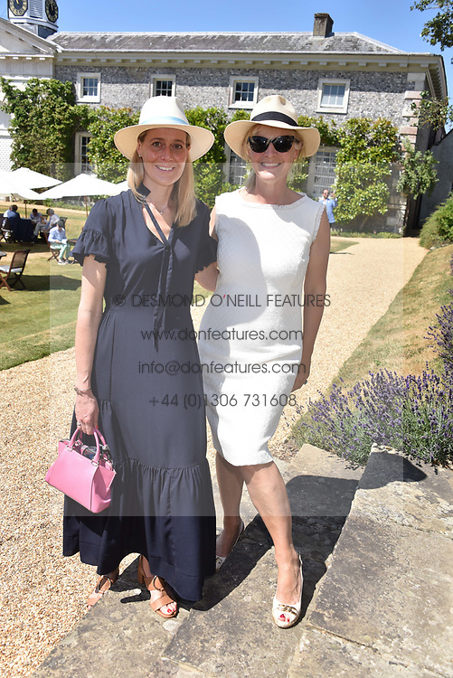 Carine Feniou and The Duchess of Richmond at the 'Cartier Style et Luxe' enclosure during the Goodwood Festival of Speed, Goodwood House, West Sussex, England. 15 July 2018.