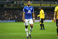 Ashley Williams of Everton looking on. Premier league match, Watford v Everton at Vicarage Road in Watford, London on Saturday 10th December 2016.<br /> pic by John Patrick Fletcher, Andrew Orchard sports photography.