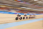 Switzerland compete against the Russian Federation in the mens cycle team pursuit during the 2019 Minsk European Games on the 28th June 2019 in Minsk in Belarus. Featuring Thery Schir, Claudio Imhof, Robin Froidevaux and Lukas Ruegg.