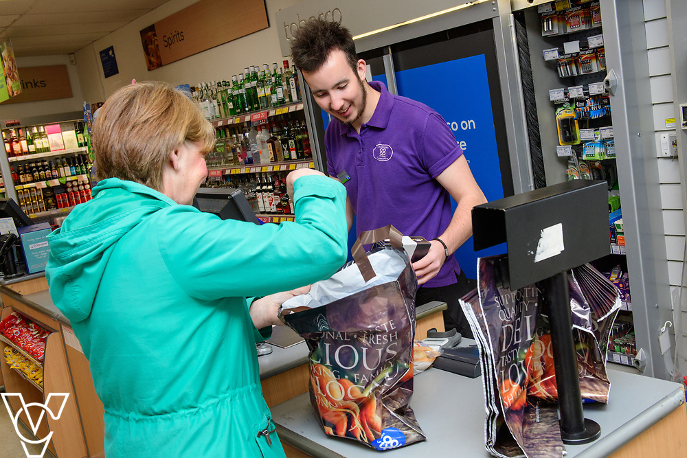 Lincolnshire Co-operative's Celebrating Success Evening winners.  Skellingthorpe food store were winners of the Outstanding Customer Engagement Award.  Pictured is Scott Dyer serving a customer.<br /> <br /> Picture: Chris Vaughan Photography for Lincolnshire Co-op<br /> Date: April 24, 2017