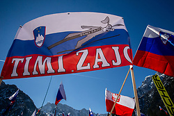 Supporters of Timi Zajc of Slovenia during the Ski Flying Hill Team Competition at Day 3 of FIS Ski Jumping World Cup Final 2019, on March 23, 2019 in Planica, Slovenia. Photo by Vid Ponikvar / Sportida