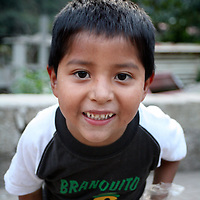 Americas, South America, Peru, Aquas Calientes. Peruvian youth.