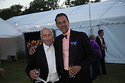 RICHARD TAYLOR; ALEXANDER SIDDIQ, Richard Taylor's 69th birthday party.  Whithurst Park. West Sussex.  3 August 2013