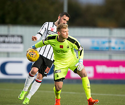 Falkirk's keeper Robbie Thomson. Falkirk 1 v 1 Dunfermline, Scottish Championship game played 4/5/2017 at The Falkirk Stadium.