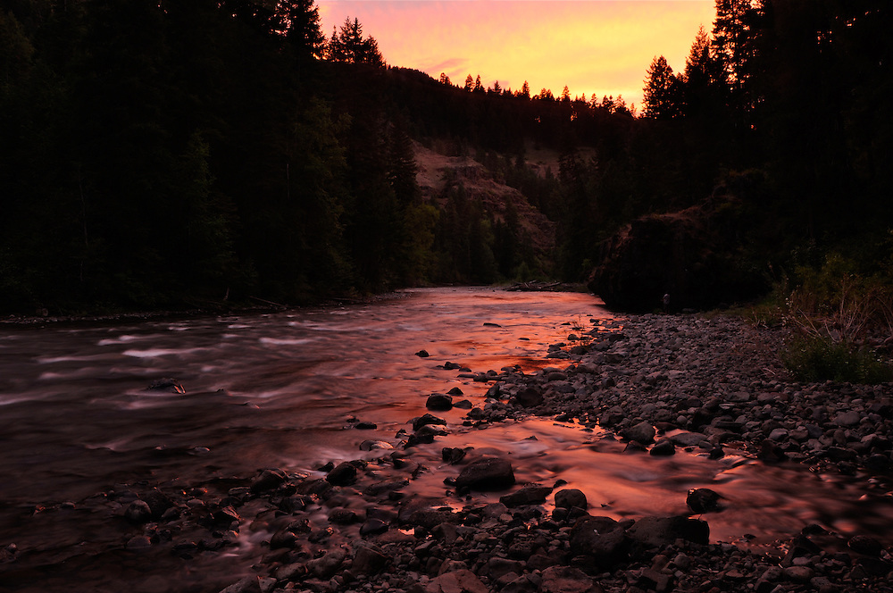 Trout Creek flowing into the Minam River in Oregon's Wallowa Mountains.