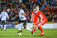 Trinidad and Tobago midfielder Levi Garcia on the ball during the Friendly European Championship warm up match between Wales and Trinidad and Tobago at the Racecourse Ground, Wrexham, United Kingdom on 20 March 2019.