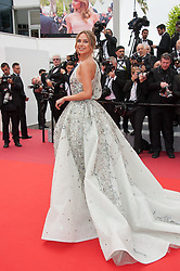 Kimberley Garner arriving on the red carpet of 'La Belle Epoque' screening held at the Palais Des Festivals in Cannes, France on May 20, 2019 as part of the 72th Cannes Film Festival. Photo by Nicolas Genin/ABACAPRESS.COM