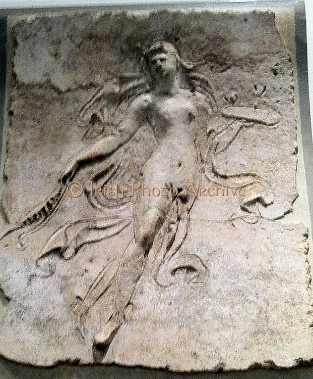 Stucco relief (Roman) depicting a male figure. 1st Century AD